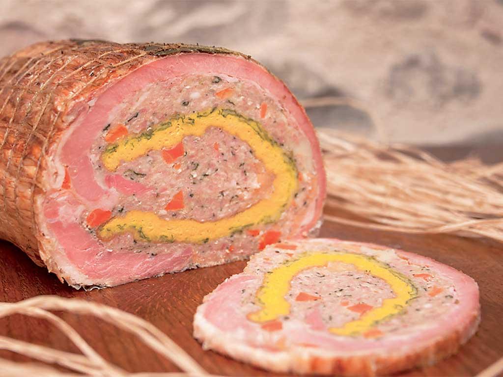 """cima di vitello farcito (stuffed calf) de """"I Salumi di Cantina"""" di Italia dei Sapori"""
