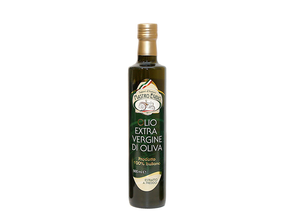 "olio extravergine di oliva 500 ml (extra virgin olive oil) di ""Mastro Egidio"" di Italia dei Sapori"""