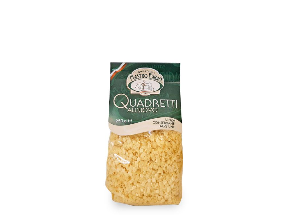 """quadretti (pasta all'uovo secca / dry egg pasta) di """"Mastro Egidio"""" di Italia dei Sapori"""""""