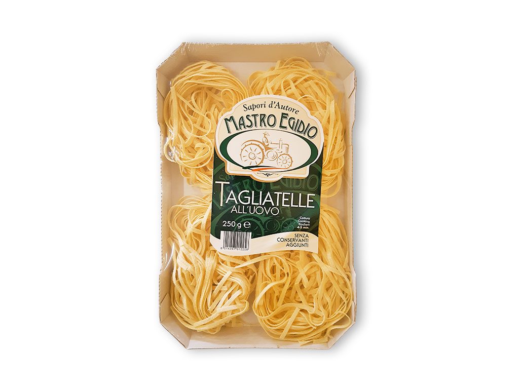 """tagliatelle (pasta all'uovo secca / dry egg pasta) di """"Mastro Egidio"""" di Italia dei Sapori"""""""
