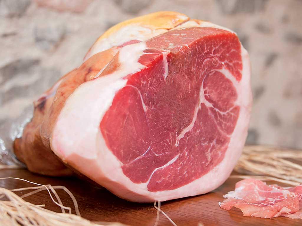 """prosciutto stagionato (cured ham) giglio 12 mesi de """"I Salumi di Cantina"""" di Italia dei Sapori"""