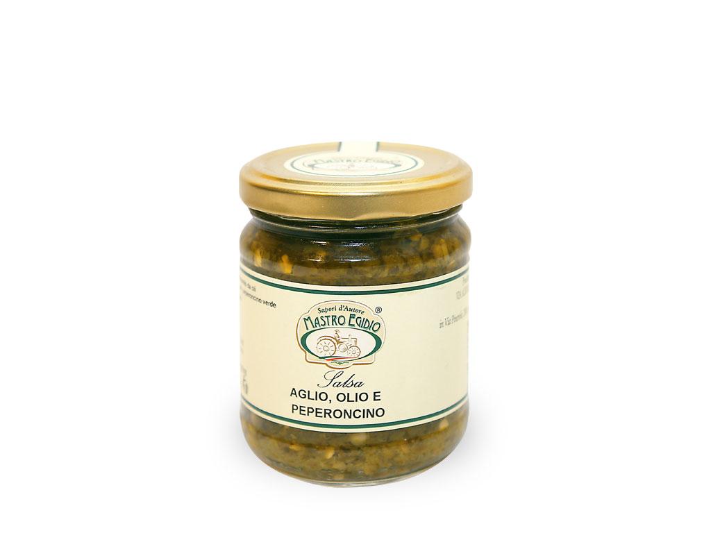 """salsa aglio, olio e peperoncino (per formaggi e carni) di """"Mastro Egidio"""" di Italia dei Sapori"""""""