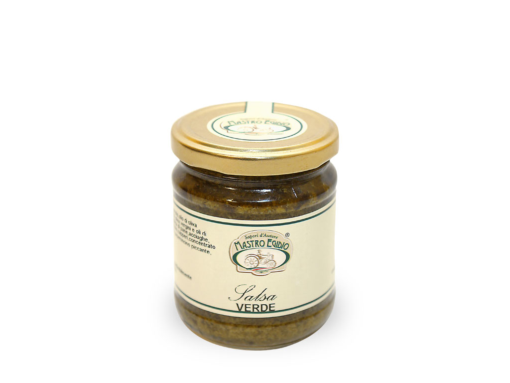 """salsa verde (per formaggi e carni) di """"Mastro Egidio"""" di Italia dei Sapori"""""""