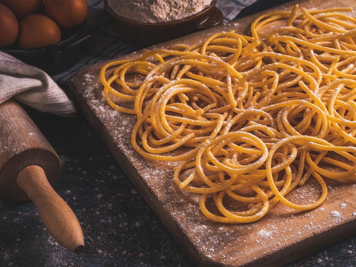 bigoli al torchio pasta fresca lunga italia dei sapori