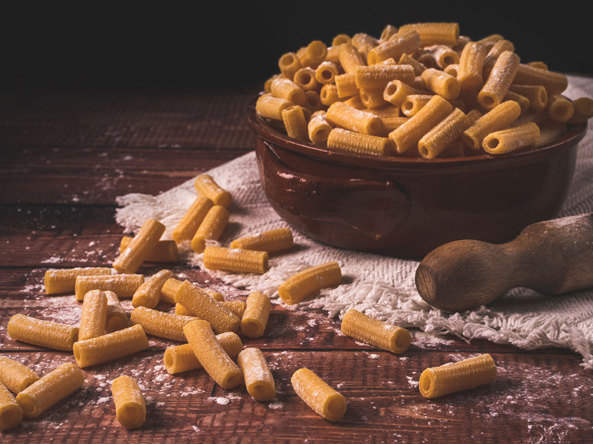 maccheroni all'uovo pasta fresca corta italia dei sapori